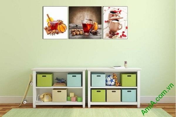 Tranh trang trí phòng khách, phòng trà đẹp AmiA 645-02