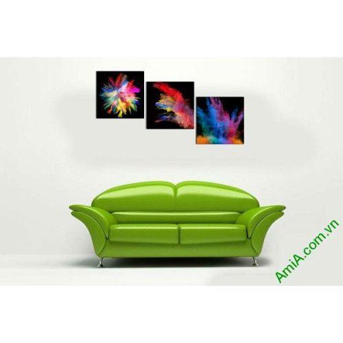 Tranh trang trí phòng khách sắc màu nghệ thuật AmiA 599-00