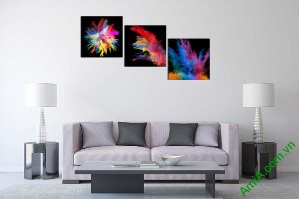 Tranh trang trí phòng khách sắc màu nghệ thuật AmiA 599-01