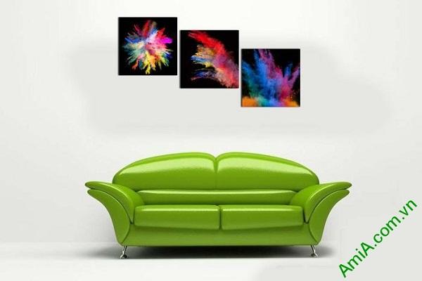 Tranh trang trí phòng khách sắc màu nghệ thuật AmiA 599-02