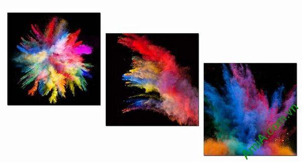 Tranh trang trí phòng khách sắc màu nghệ thuật AmiA 599