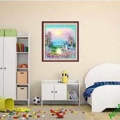 Tranh trang trí phòng trẻ em phòng khách xứ thần tiên-00