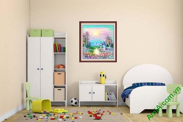 Tranh trang trí phòng trẻ em phòng khách xứ thần tiên-01