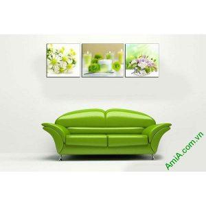 Tranh trang trí spa sang trọng nến thơm và hoa AmiA 660-00