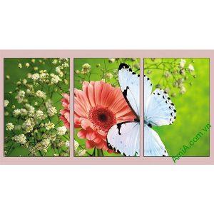 Tranh treo phòng khách, phòng trẻ em hoa bướm AmiA 638-00