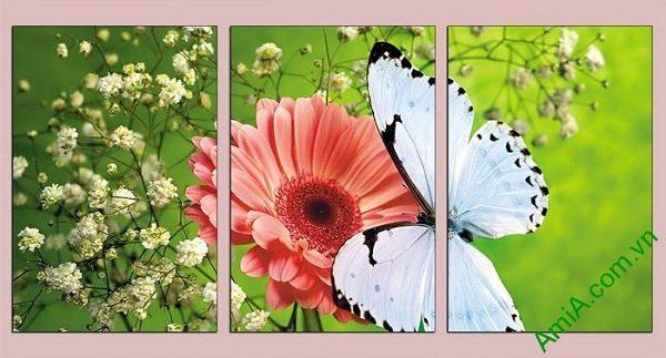 Tranh treo phòng khách, phòng trẻ em hoa bướm AmiA 638