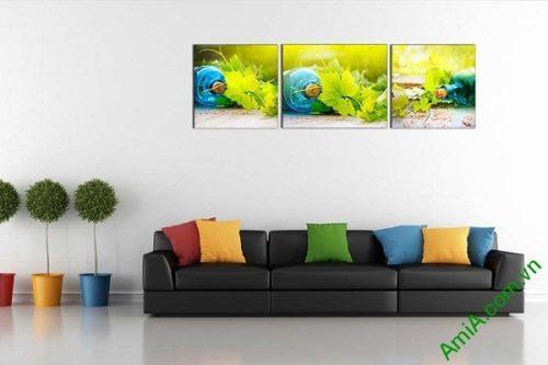 Tranh treo tường phòng khách khung cảnh mùa hè AmiA 639-01