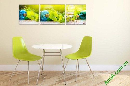Tranh treo tường phòng khách khung cảnh mùa hè AmiA 639-02