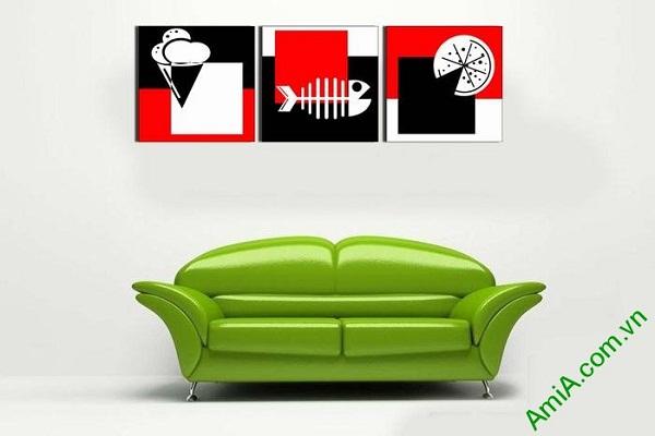 Tranh treo tường phòng khách trang trí hình khối độc đáo-02