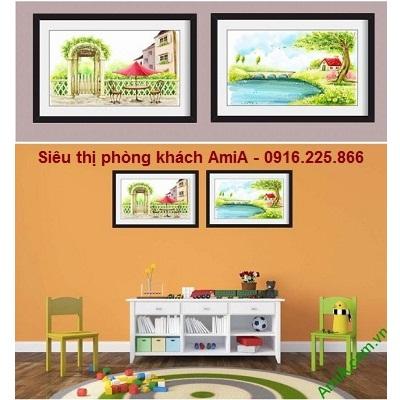 Hình ảnh mẫu thiết kế khung tranh phong cảnh trang trí nội thất