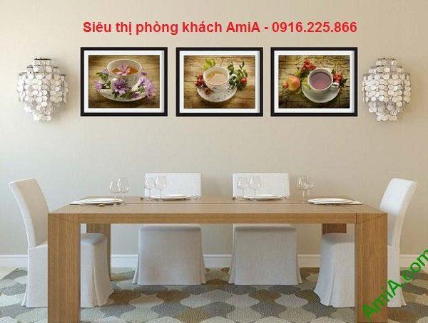 Hình ảnh Bộ khung tranh gỗ treo tường phòng ăn hiện đại