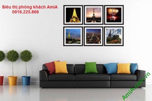 Hình ảnh Bộ khung tranh nghệ thuật tháp eiffel treo phòng khách