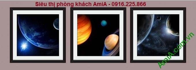 Hình ảnh mẫu Bộ khung tranh trang trí phòng trẻ em vũ trụ