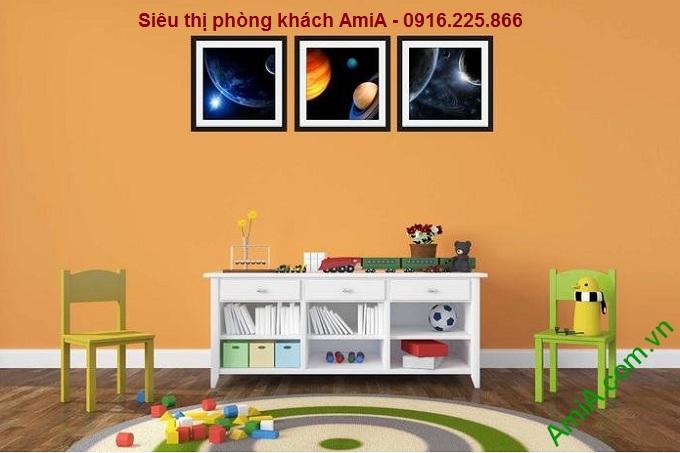 Hình ảnh mẫu Bộ khung tranh trang trí phòng trẻ em khám phá vũ trụ