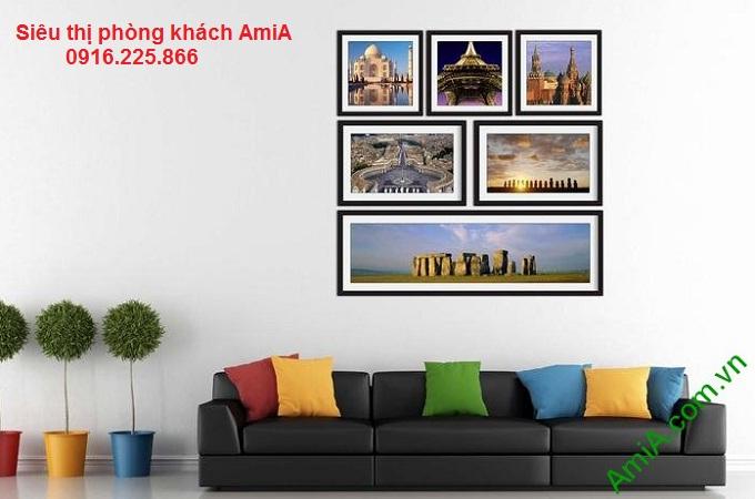 Hình mẫu Bộ khung tranh trang trí tường đẹp di sản nổi tiếng thế giới