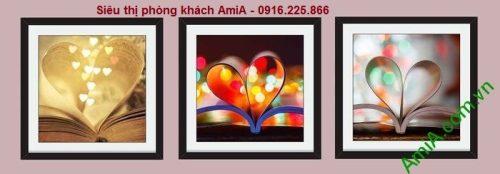 Hình ảnh mẫu Bộ tranh ghép nghệ thuật cuốn sách tình yêu