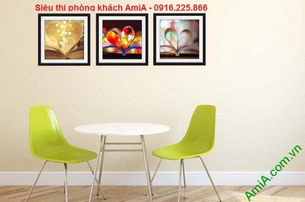 Hình ảnh mẫu Bộ tranh ghép nghệ thuật cuốn sách tình yêu trang trí phòng ăn