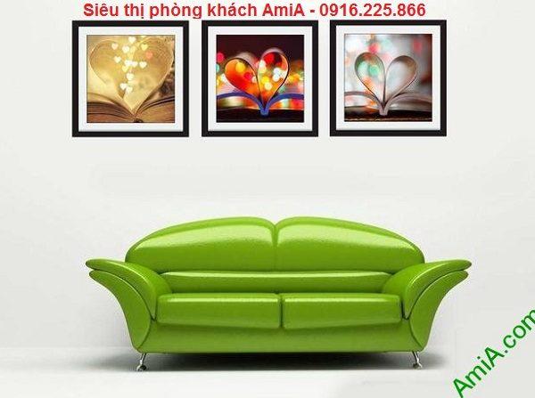 Hình ảnh mẫu Bộ tranh ghép nghệ thuật cuốn sách tình yêu trang trí phòng khách