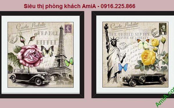 Hình mẫu Bộ tranh tem thư phong cảnh Châu Âu
