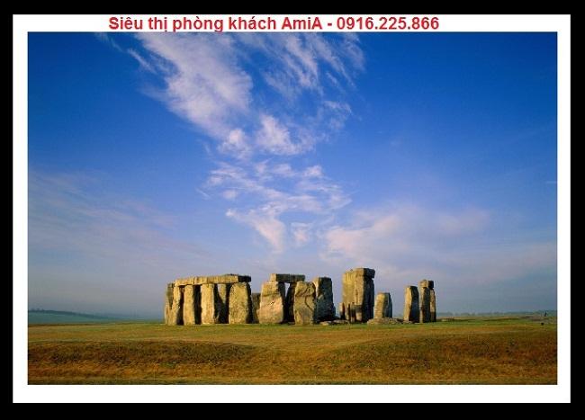 Hình ảnh Bãi đá cổ Stonehenge ở vương Quốc Anh trong bộ khung tranh di sản thế giới