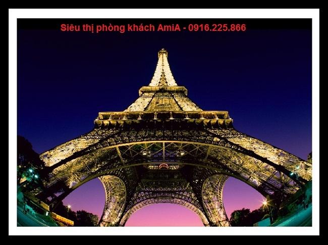 Hình ảnh Tháp Eiffel trong bộ tranh khung di sản thế giới