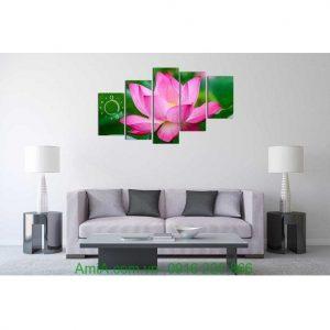 Hình ảnh Đồng hồ tranh treo tường hoa sen hiện đại