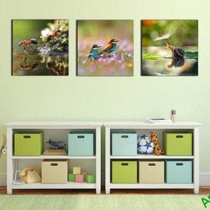 Hình ảnh khung tranh trang trí ghép bộ phòng trẻ em đẹp
