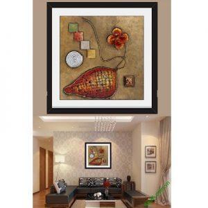 Hình ảnh mẫu thiết kế Khung tranh trừu tượng treo phòng khách