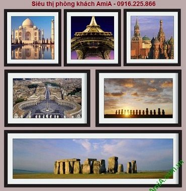 Hình ảnh mẫu bộ khung tranh di sản thế giới