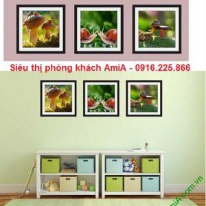hình ảnh tranh trang trí khung cảnh thiên nhiên treo phòng trẻ em
