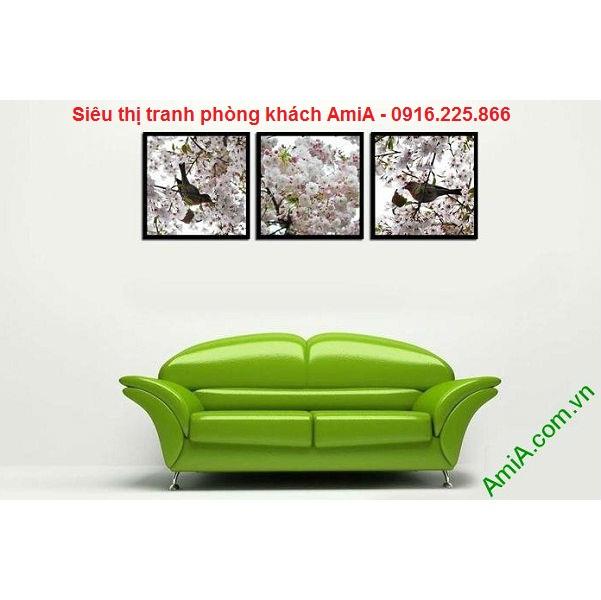 Hình ảnh mẫu Tranh trang trí nội thất hoa anh đào