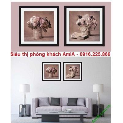 Hình ảnh mẫu tranh khung ghép bộ treo phòng khách