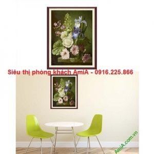 Hình ảnh mẫu tranh khung trang trí phòng khách nghệ thuật