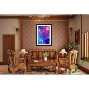 Hình ảnh mẫu Tranh nghệ thuật trang trí phòng khách sắc màu