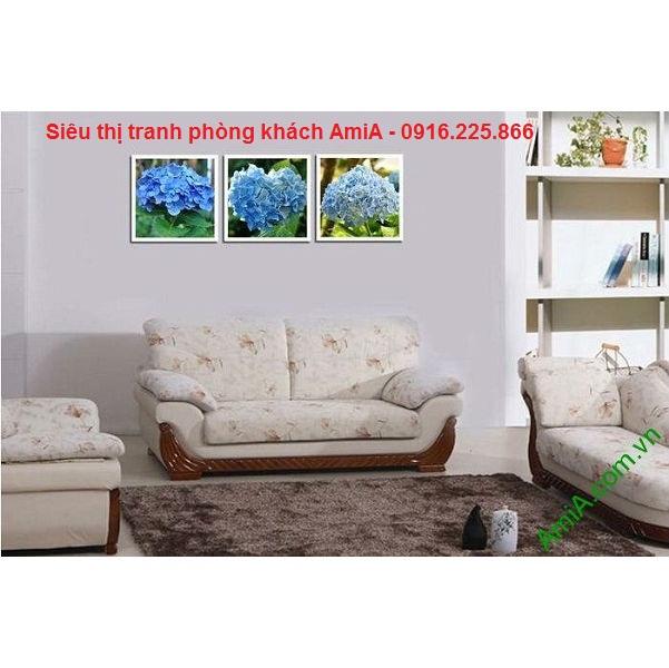 Hình ảnh tranh trang trí hoa cẩm tú cầu