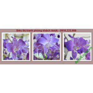 Hình ảnh mẫu Tranh trang trí nội thất hoa lan tím