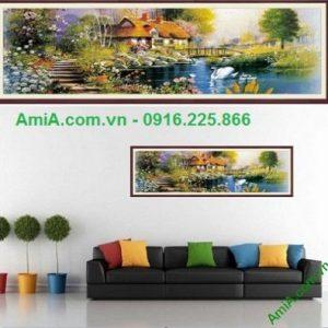 Hình ảnh mẫu tranh trang trí nội thất phòng khách ngôi nhà