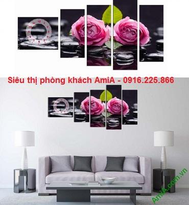Hình ảnh Tranh trang trí phòng khách hoa hồng