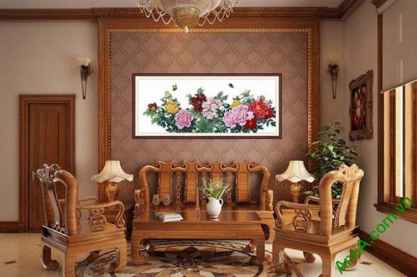 Hình ảnh Khung tranh nghệ thuật hoa mẫu đơn