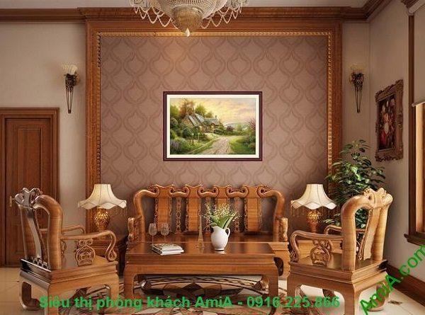 Hình ảnh Khung tranh nghệ thuật trang trí phòng khách ngôi nhà