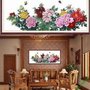 Hình ảnh mẫu Khung tranh nghệ thuật treo phòng khách