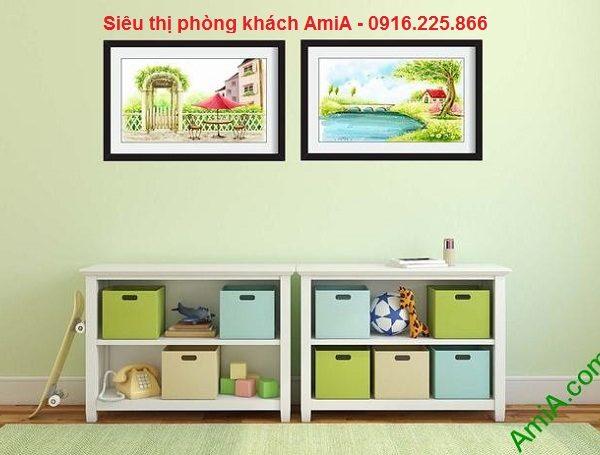Hình ảnh mẫu Khung tranh phong cảnh trang trí nội thất phòng trẻ em