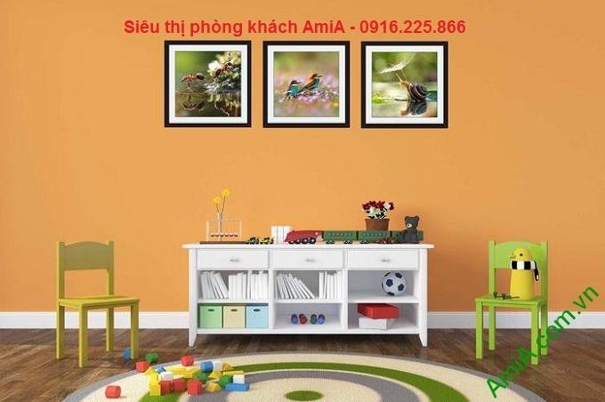 Hình mẫu khung tranh trang trí ghép bộ phòng trẻ em