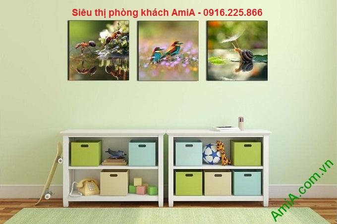 khung tranh trang trí ghép bộ đặt mẫu phòng trẻ em