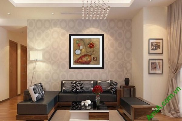 Hình ảnh Khung tranh trừu tượng trang trí phòng khách