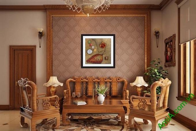 Hình ảnh Khung tranh trừu tượng treo phòng khách hiện đại