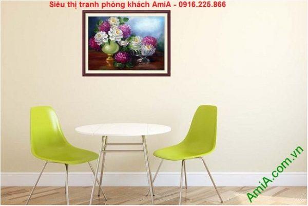 Hình ảnh Tranh bình hoa nghệ thuật trang trí phòng ăn