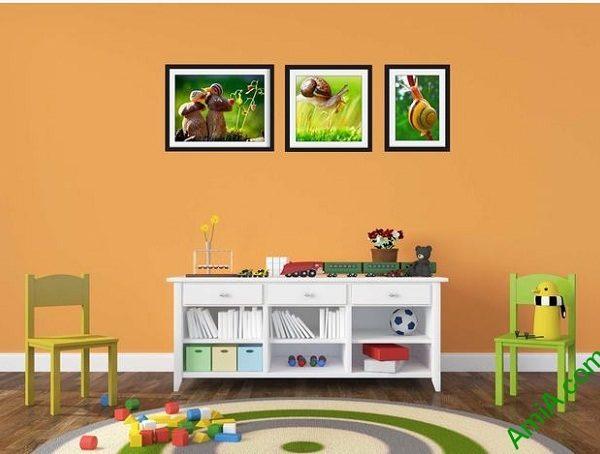 Hình ảnh Tranh ghép ốc sên trang trí phòng của bé