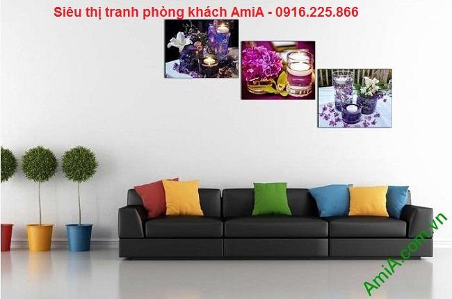 Tranh nến hoa trang trí không gian spa, phòng khách tại nhà
