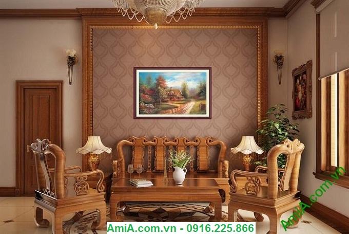 Hình ảnh Tranh phong cảnh đẹp ngôi nhà châu âu